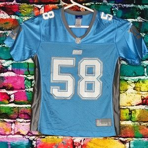 Women's NFL New York Giants Light Blue Jersey # 58